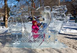 Picture of sculpture at Fire and Ice Festival.
